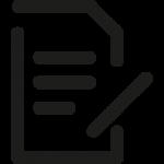 Symbol eines beschriebenen Blatt Papiers mit Stift