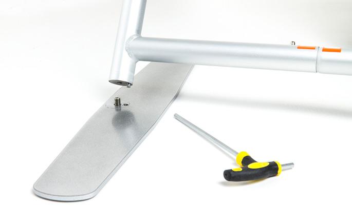 Zipper Straight Gestell Fuß