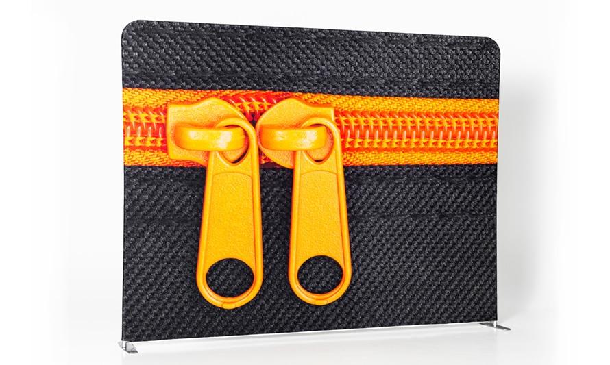 Zipper Straight Stoffdruck