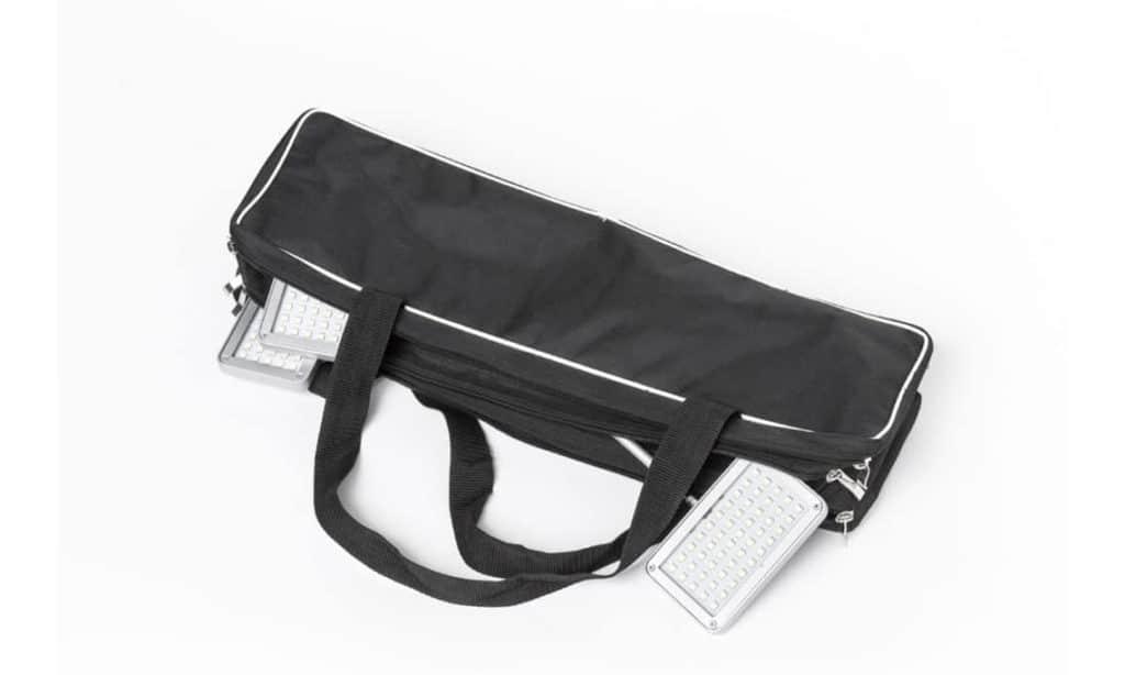 luxurious light bag Taschen in schwarz mit 3 Leuchten